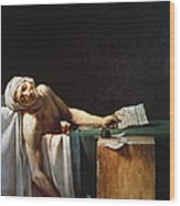 David: The Death Of Marat Wood Print