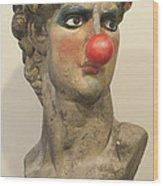 David With Makeup And Clown Nose 1 Wood Print
