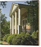 Davidson College Eumenean Hall Wood Print