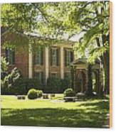 Davidson College Old Well And Philanthropic Hall Wood Print