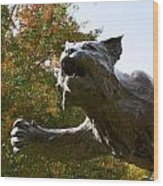 Davidson College Wildcat Statue Wood Print