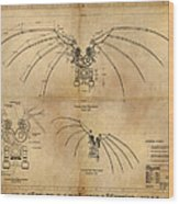 Davinci's Wings Wood Print
