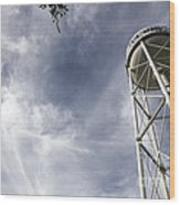 Davis Water Tower Wood Print by Juan Romagosa
