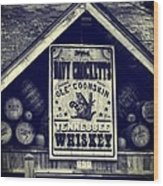 Davy Crocketts Tennessee Whiskey Wood Print