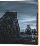 Dawn At Avebury Stone Circle Wood Print