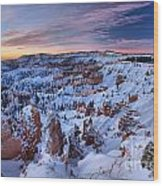 Dawn At Bryce Wood Print