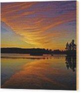 Dawn At Lake Tiorati Wood Print