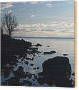 Dawn At The Cove Wood Print