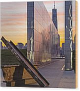 Dawn At The Empty Sky Memorial Wood Print