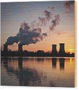 Dawn At Three Mile Island Wood Print
