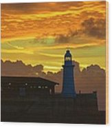 Dawn Departure Wood Print