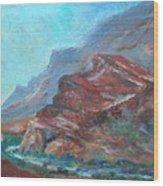 Dawn In The Gorge Wood Print