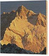 Dawn On Kangchenjunga Talung Face Wood Print