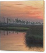 Dawn On The Bayou Wood Print