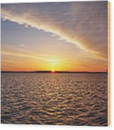 Dawn On The Chesapeak - St Michael's Maryland Wood Print