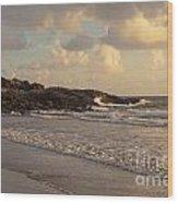 Dawn On The Coral Sea Wood Print