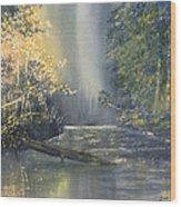 Dawn On The Derwent Wood Print
