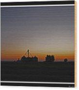 Dawn On The Farm Wood Print