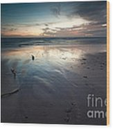 Dawn Over Barbados Beach On The East Coast Wood Print