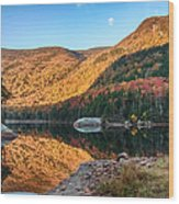 Dawn Over Kinsman Notch Wood Print