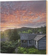 Dawn Over Leconte Wood Print by Debra and Dave Vanderlaan