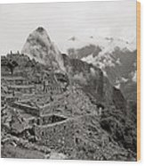 Dawn Over Machu Picchu Wood Print
