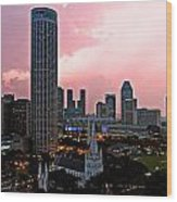 Dawn Over Singapore Wood Print