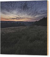 Dawn Over The Hills Wood Print