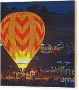 Dawn Patrol- Reno Balloon Race Wood Print