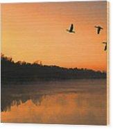 Dawn Patrol Wood Print by Steven Richardson