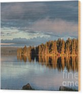 Dawn Reflections On Pelican Bay Wood Print