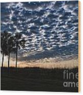 Dawn Silhouettes Wood Print