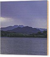 Dawn With Rain Wood Print