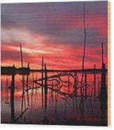 Dawns Preview Wood Print
