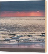 Dawns Red Sky Reflected Wood Print