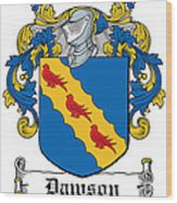 Dawson Coat Of Arms Irish Wood Print