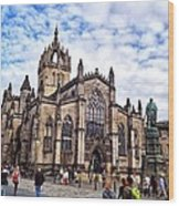 Day At The High Kirk Wood Print