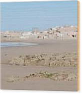 Day At The Moroccan Fishing Village Wood Print