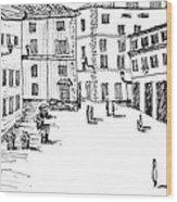 Day In Piazza Di Campitelli Wood Print