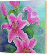 Day Lily Delight Wood Print