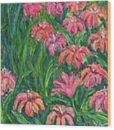 Day Lily Rush Wood Print