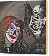 Day Of The Dead Good Vs Evil Wood Print