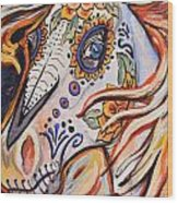 Day Of The Dead Horse Wood Print