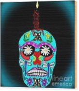 Day Of The Dead Sugar Skull Wood Print