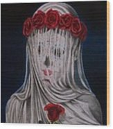 Day Of The Dead Veiled Bride Wood Print