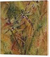 Day Of The Dragonfly Wood Print