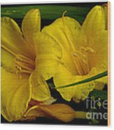Day Of The Lilies  Wood Print