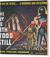 Day The Earth Stood Still Wood Print