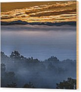Daybreak Coming To The Smoky Mountains E150 Wood Print