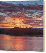 Daybreak Lake Ocoee Wood Print by Paul Herrmann